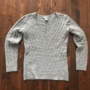 Sofia Cashmere 100% Cashmere Cable Sweater EUC